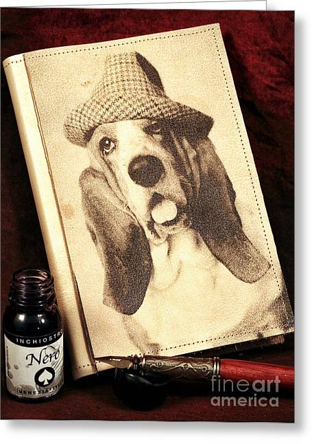 Dog Pics Greeting Cards - The Basset Diaries Greeting Card by John Rizzuto
