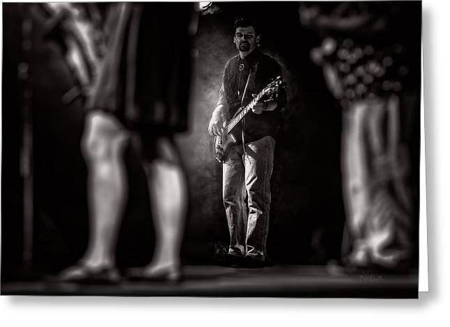 The Bassist Greeting Card by Bob Orsillo