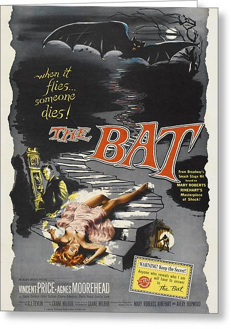 The Bat Greeting Card by MMG Archives