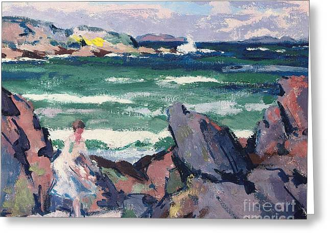 North Shore Paintings Greeting Cards - The Bather Greeting Card by Francis Campbell Boileau Cadell