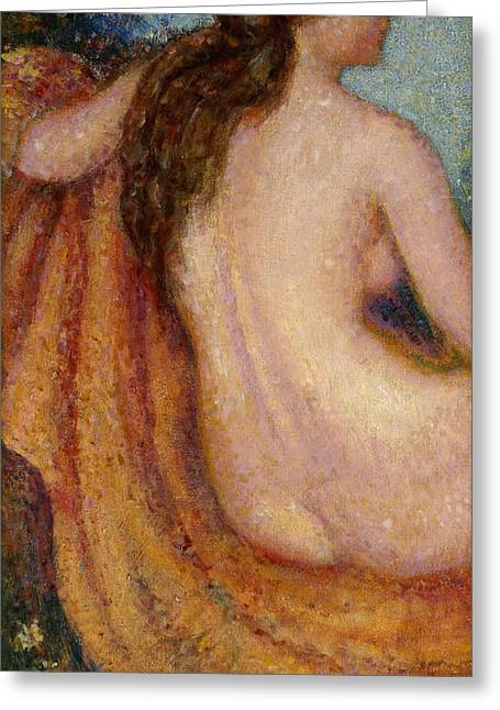 Baigneuse Greeting Cards - The Bather Greeting Card by Georges Lemmen