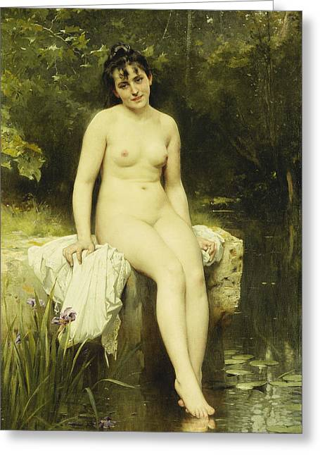 Edge Greeting Cards - The Bather Greeting Card by Leon Bazile Perrault