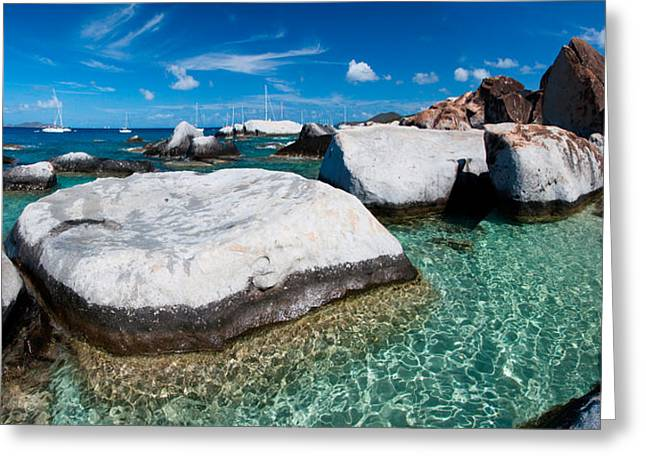 Panoramic Ocean Greeting Cards - The Baths Greeting Card by Adam Romanowicz