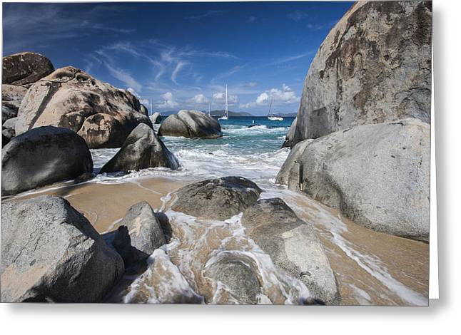 Virgin Islands Greeting Cards - The Baths at Virgin Gorda BVI Greeting Card by Adam Romanowicz