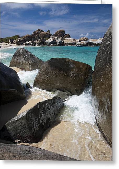 Virgin Islands Greeting Cards - The Baths - Devils Bay Greeting Card by Adam Romanowicz