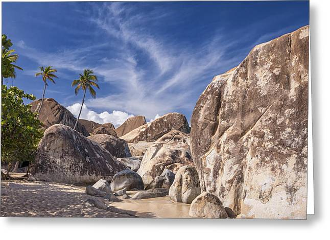 Virgin Islands Greeting Cards - The Baths Virgin Gorda Greeting Card by Adam Romanowicz