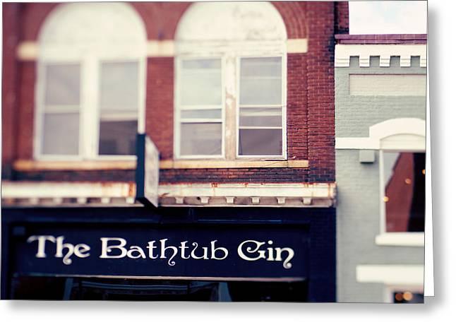 Booze Greeting Cards - The Bathtub Gin Greeting Card by Kim Fearheiley