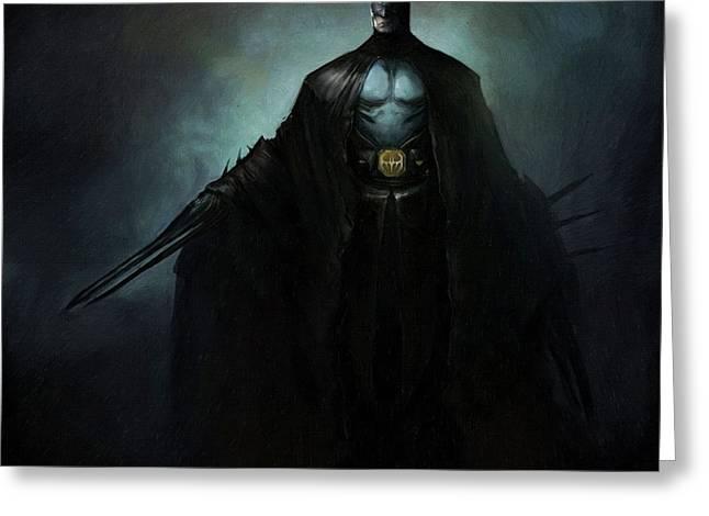 Batman Greeting Cards - The Batman Greeting Card by Victor Gladkiy