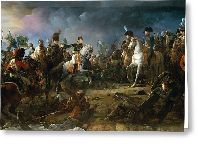 The Battle Of Austerlitz Greeting Card by Baron Francois Gerard