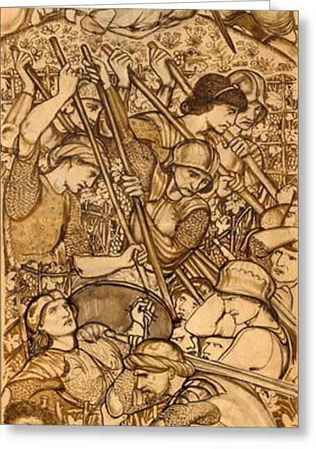 Beth Greeting Cards - The Battle of Beth-Horon - Joshua Commanding the Sun and Moon to Stand Still Greeting Card by Edward Burne-Jones
