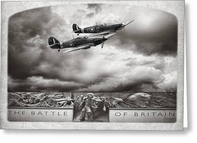 Defend Greeting Cards - The Battle Of Britain Greeting Card by Peter Chilelli