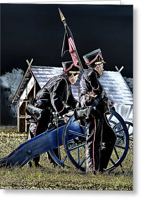 Cease Fire Greeting Cards - The Battle of Dennewitz - cease fire Greeting Card by Thomas Schreiter
