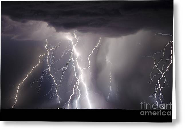Lightning Photographer Greeting Cards - The Battle Of Evermore Greeting Card by Ryan Smith