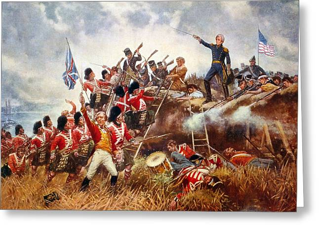 The Battle Of New Orleans Greeting Card by Percy Moran