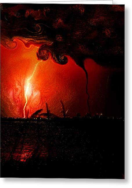 Light And Dark Digital Greeting Cards - The Battle of Saint Peter Greeting Card by David Lee Thompson
