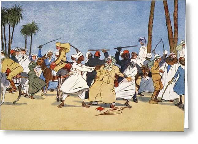 Donkey Greeting Cards - The Battle Of The Nile, From The Light Greeting Card by Lance Thackeray