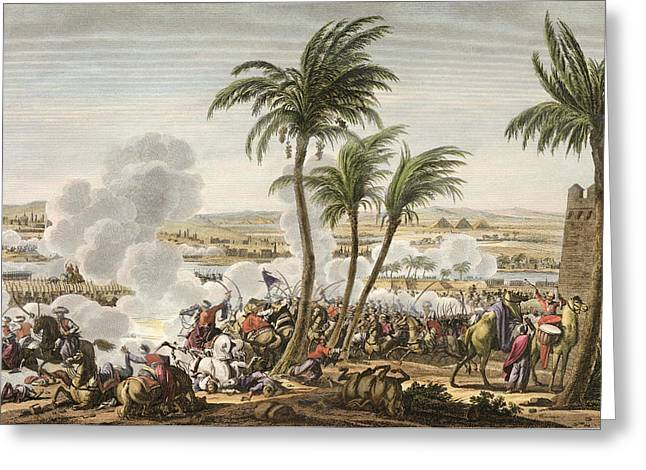 River Nile Greeting Cards - The Battle Of The Pyramids, 3 Greeting Card by Jacques Francois Joseph Swebach