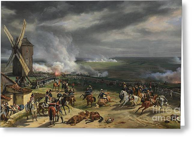 Sun Of Beach Drawings Greeting Cards - The Battle of Valmy Greeting Card by Celestial Images