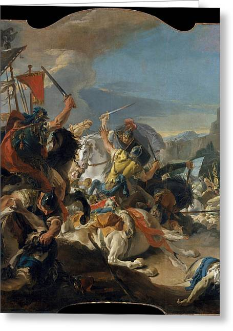 Giovanni Battista Tiepolo Greeting Cards - The Battle of Vercellae Greeting Card by Giovanni Battista Tiepolo