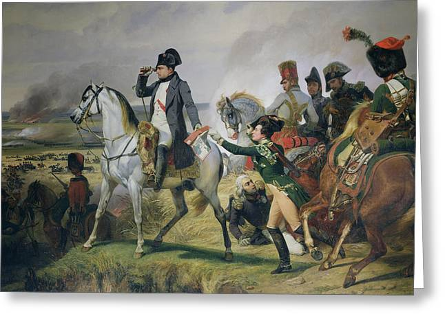 Telescope Photographs Greeting Cards - The Battle Of Wagram, 6th July 1809, 1836 Oil On Canvas Greeting Card by Emile Jean Horace Vernet