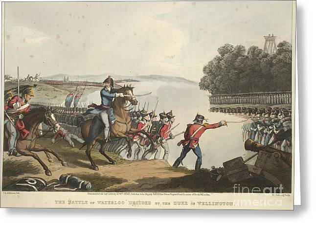 A. Paré Greeting Cards - The Battle Of Waterloo Greeting Card by British Library