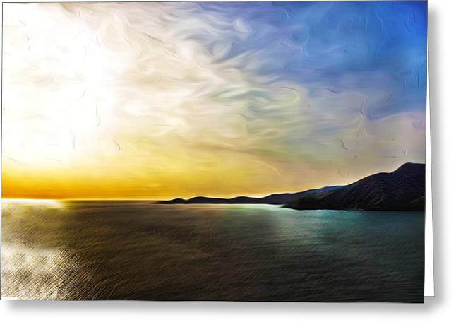 Nature Scene Digital Greeting Cards - The Bay Greeting Card by Camille Lopez