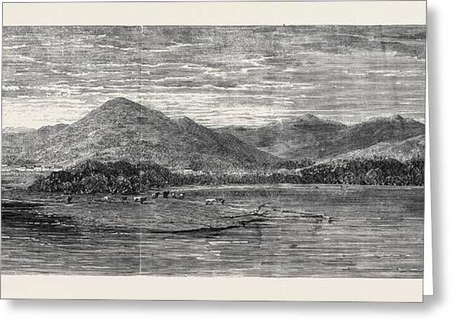 The Bay Of Finlarig Loch Tay Perthshire With The Mausoleum Greeting Card by English School