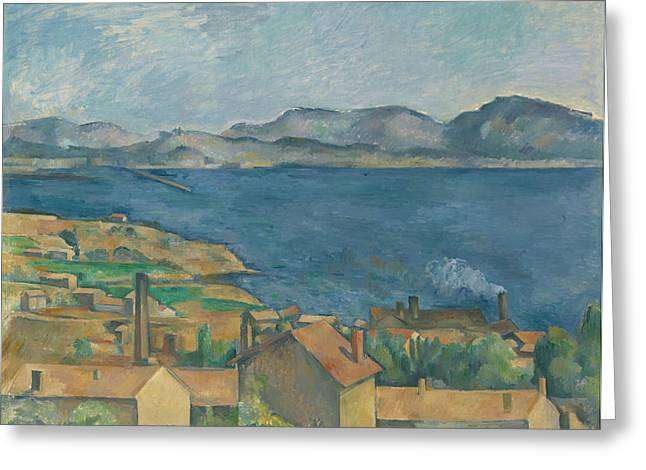Seen Greeting Cards - The Bay of Marseilles Seen from L Estaque Greeting Card by Paul Cezanne