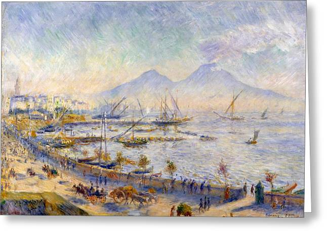 New York The Metropolitan Museum Of Art Greeting Cards - The Bay of Naples Greeting Card by Pierre-Auguste Renoir
