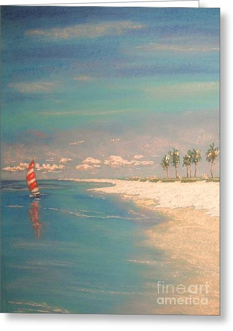 Coastline Pastels Greeting Cards - The Bay Greeting Card by The Beach  Dreamer