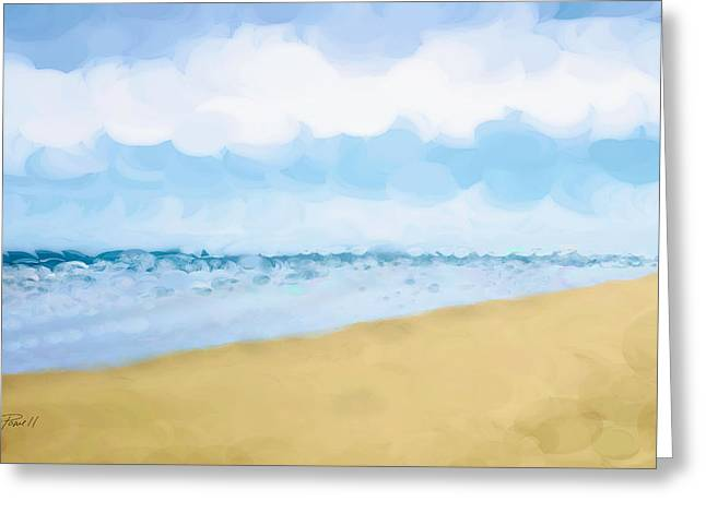Sand Pattern Digital Greeting Cards - THE BEACH abstract art Greeting Card by Ann Powell
