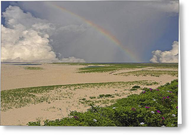 Storm Clouds Cape Cod Greeting Cards - The Beach at Chatham Greeting Card by Phil Jensen