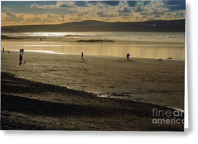 Cornish Beaches Greeting Cards - The Beach at Mounts Bay Greeting Card by Louise Heusinkveld