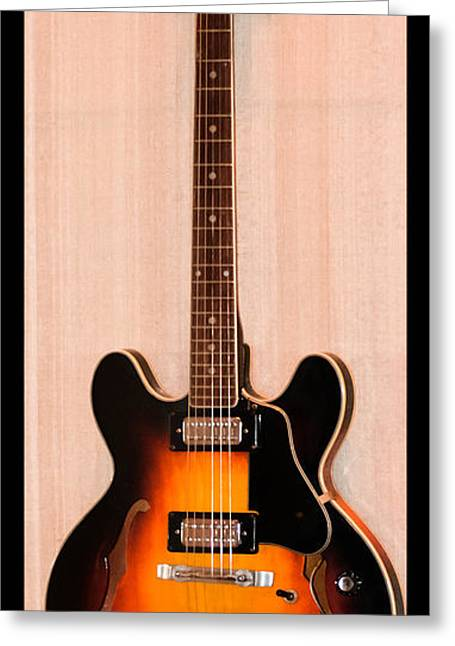 Playing Musical Instruments Greeting Cards - The Beach Boys Brian Wilsons Guitar Greeting Card by Gary Keesler