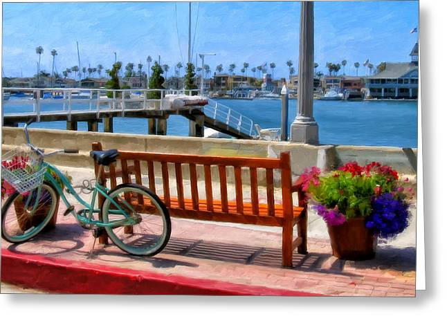 Newport Greeting Cards - The Beach Cruiser Greeting Card by Michael Pickett