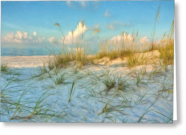 On The Beach Greeting Cards - The Beach Greeting Card by Gary Oliver