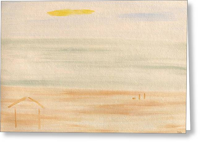 Dog Beach Card Greeting Cards - The Beach Hut Greeting Card by Patrick J Murphy