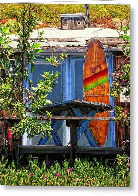 Beach Cottage Style Greeting Cards - The Beach Shack Greeting Card by Ron Regalado