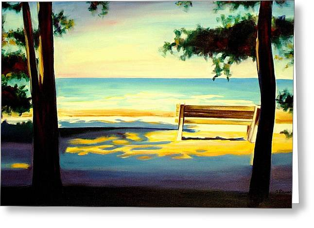 Kitchener Paintings Greeting Cards - The Beach Greeting Card by Sheila Diemert