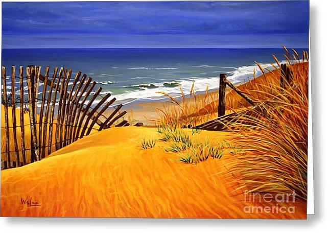 Ocaen Greeting Cards - The Beach Greeting Card by Walaa