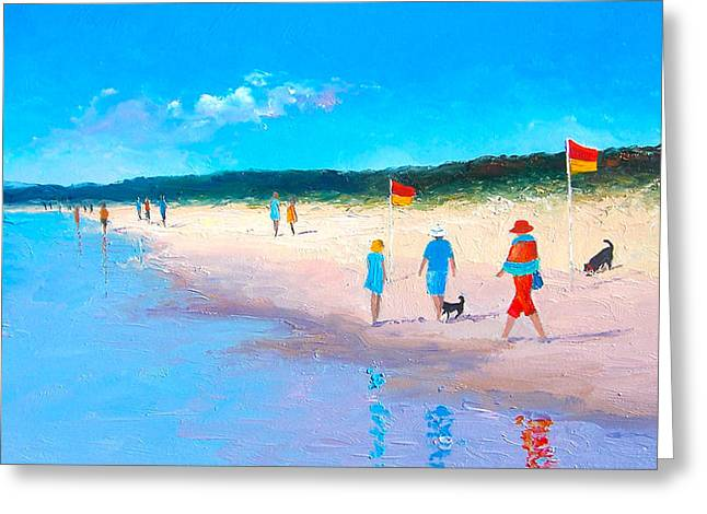 Cabin Interior Greeting Cards - The Beach Walkers Greeting Card by Jan Matson