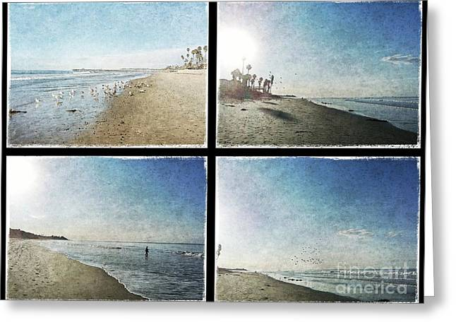 The Beaches Of San Clemente Collage Greeting Card by Traci Lehman