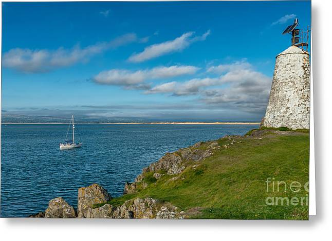 Newborough Greeting Cards - The Beacon  Greeting Card by Adrian Evans