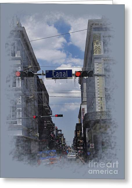 Traffic Pastels Greeting Cards - The beads of Canal St. Greeting Card by WickedRefined- ND