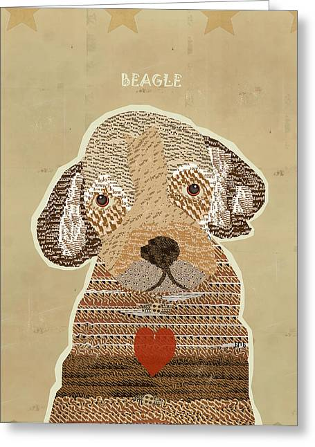 Abstract Of Dogs Greeting Cards - The Beagle Greeting Card by Bri Buckley