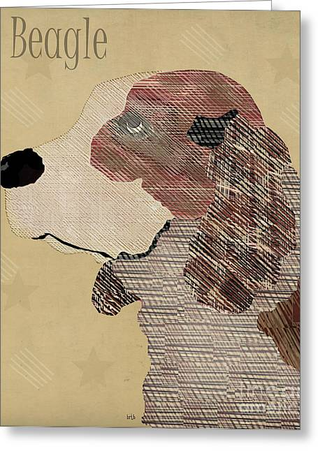 Beagle Prints Greeting Cards - The Beagle Dog  Greeting Card by Bri Buckley