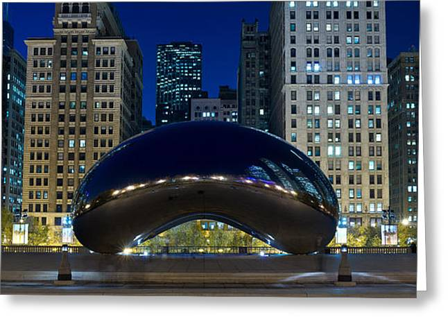 Michigan Ave Greeting Cards - The Bean At Millennium Park Chicago Greeting Card by Steve Gadomski