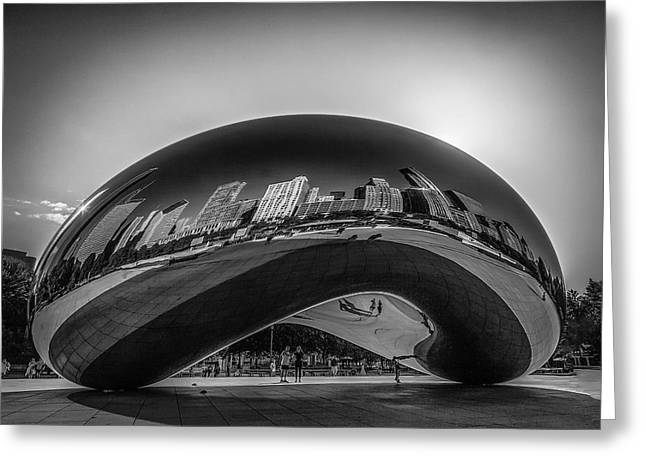 The Bean Greeting Cards - The Chicago Bean Greeting Card by Erwin Spinner