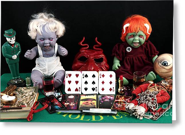 Still Life Photographs Greeting Cards - The Beast Greeting Card by John Rizzuto