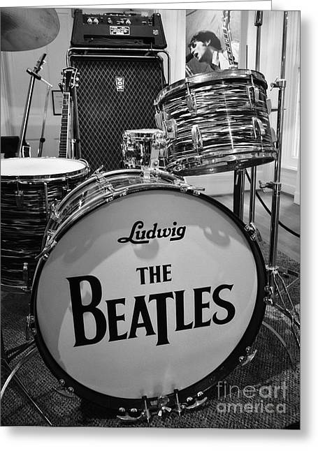 Ludwig Drum Sets Greeting Cards - The Beat Goes On Greeting Card by Mel Steinhauer